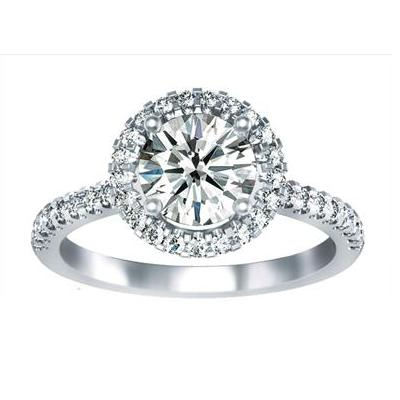Amy Beth - Halo Engagement Ring - Item #CH-SS1134-14KW Image