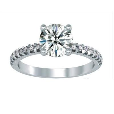 Audrey - with Scallop Set Diamonds - Style # CH-S1102SC-14KW Image