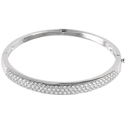 14kt White Gold 3 Carat Diamond Pave' Bracelet
