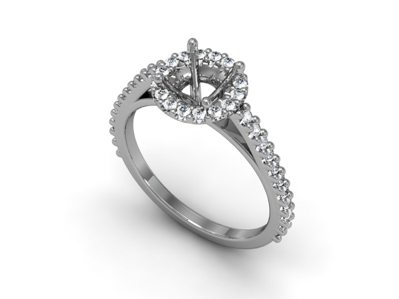 Custon Halo Engagement Ring Image