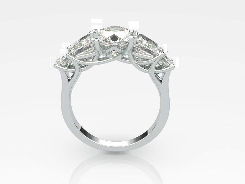 Custom Engagement Ring and Wedding Set Image